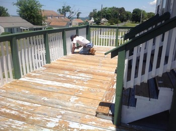 Deck Painting in Hampton, VA