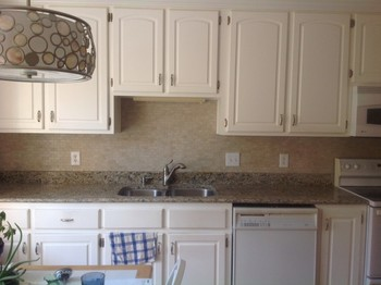 New Granite Counter Tops and Tile Back Splash Hampton, VA
