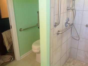 Bathroom upgrade for a disabled Veteran in Hampton VA